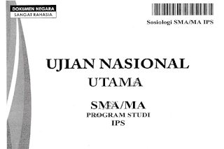 Prediksi Soal UN Sosiologi SMA/MA 2017-2018