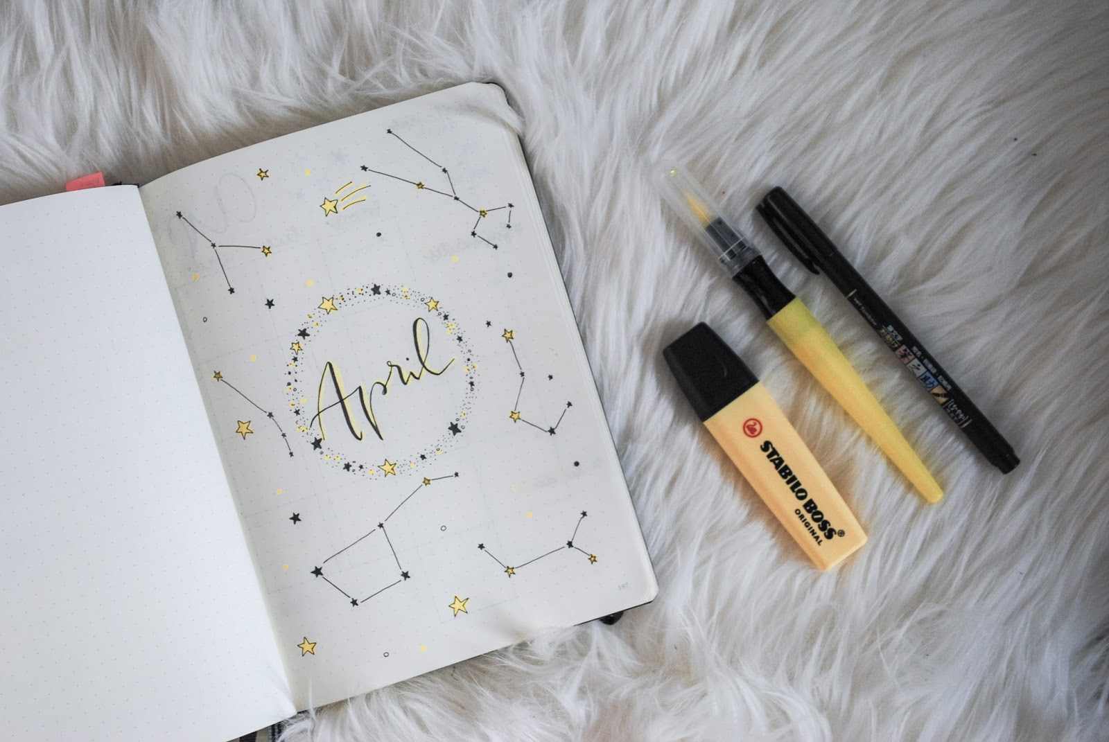 Lena S Blog Bullet Journal April Setup