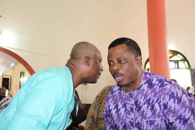 See What Obiano Said At The Burial Of Richard Okeke, His Deputy's Father