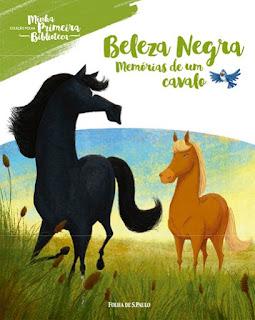 Beleza Negra: Memórias de um cavalo. Anna Sewell. Folha de S. Paulo. Coleção Folha Minha Primeira Biblioteca. Capa de Livro. Book Cover.