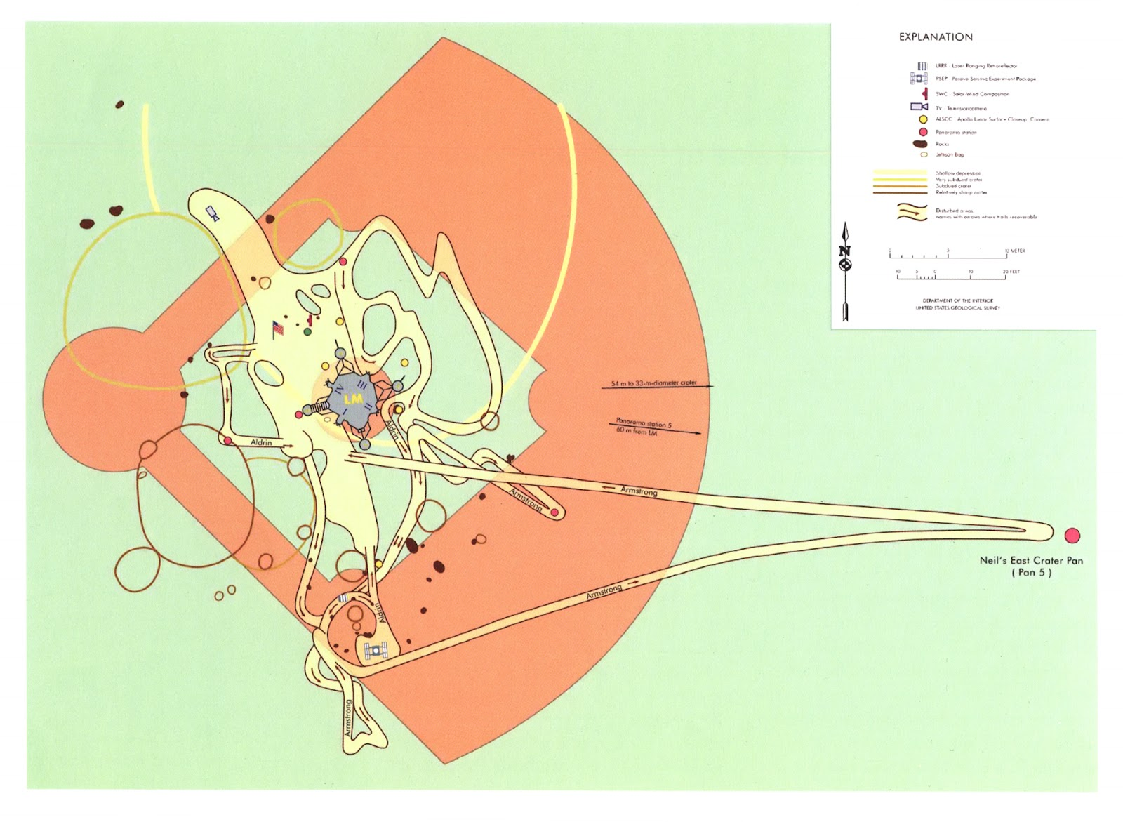map of neil armstrong where he explored -#main