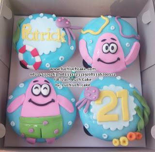 Cupcake Ulang Tahun Patrick Star