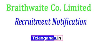 Braithwaite Co. Limited Recruitment Notification 2017