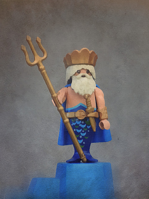 PLAYMOBIL CUSTOM FIGURE ANCIENT GREECE POSEIDON