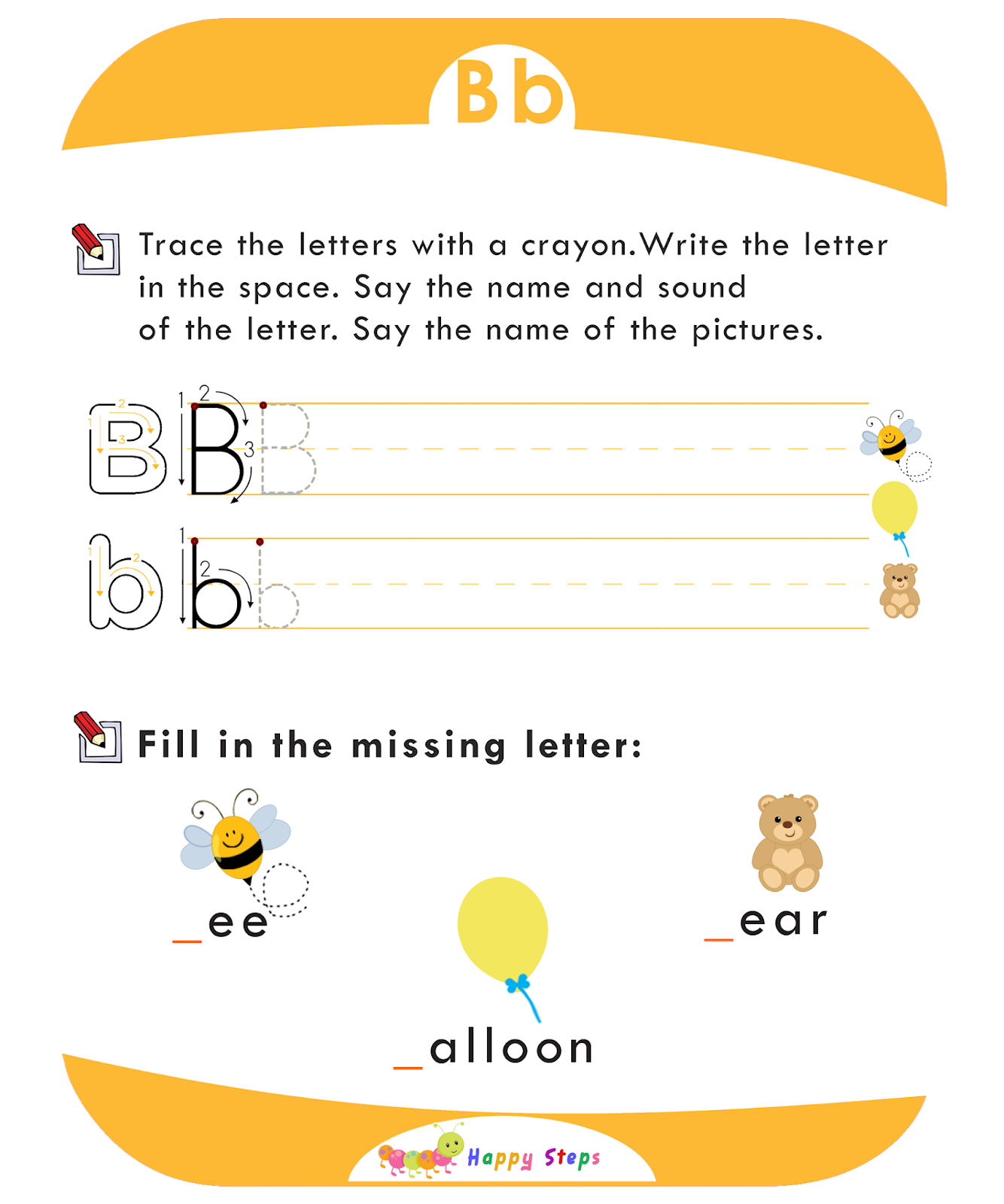 Letter B Worksheet Number 2