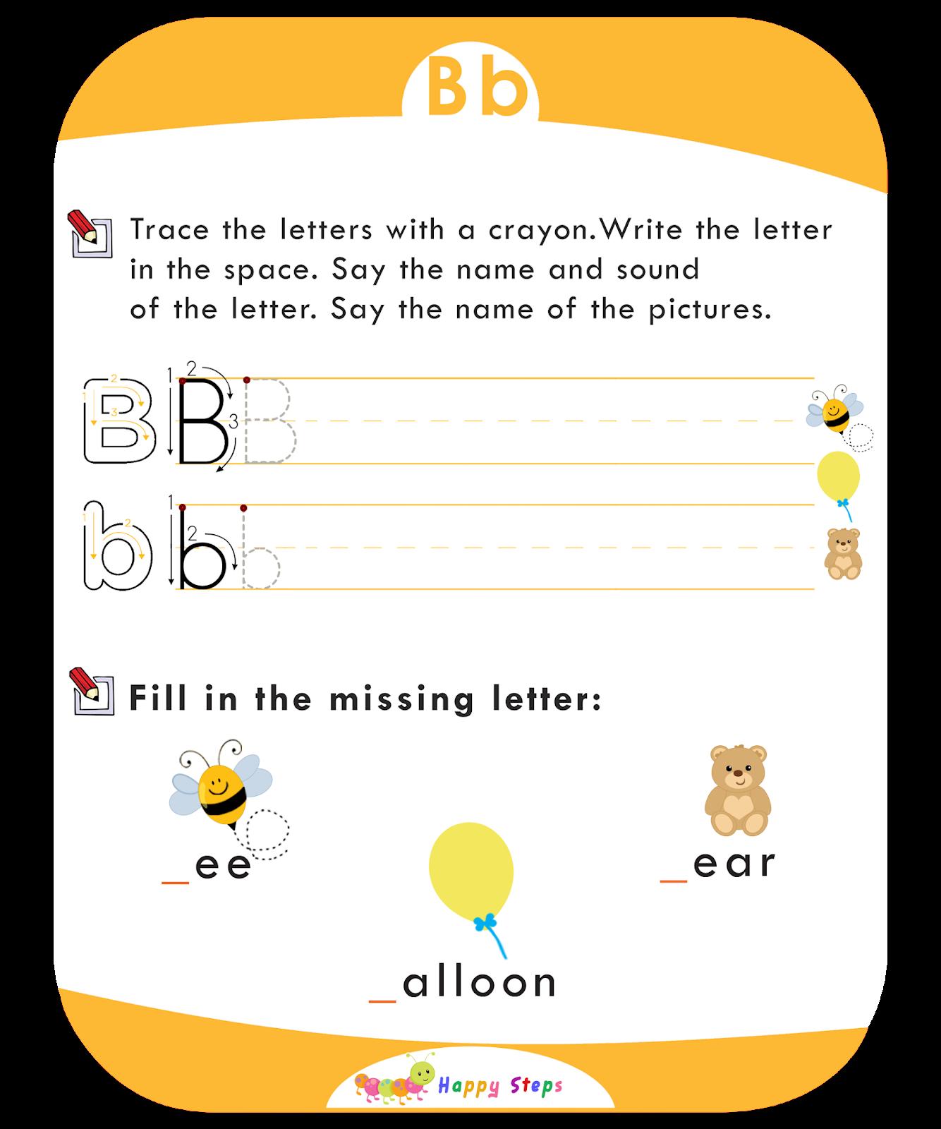 Letter B Worksheet Number 2