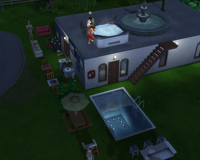 The sims 4 | Roof Jacuzzi
