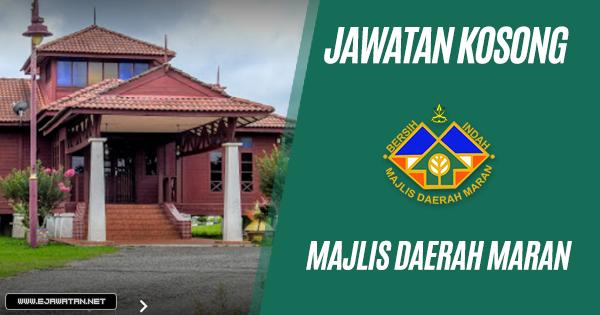jawatan kosong kerajaan Majlis Daerah Maran 2019
