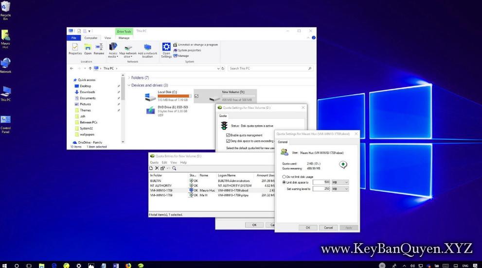 Cấu hình, bảo mật và quản lý bộ nhớ trong các hệ thống Windows 10.