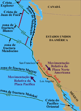 Resultado de imagem para falha de san andreas mapa mexico