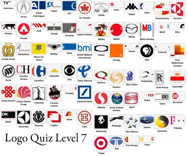 logo quiz answers level 7 type logos