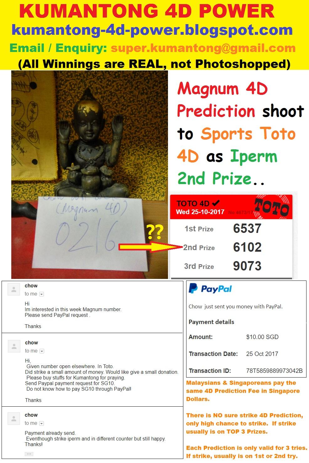 Kumantong 4D Power: Magnum 4D Prediction shoot to Sports Toto 4D ...