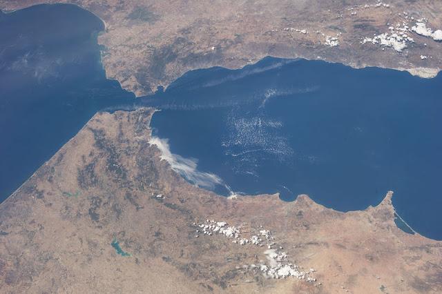 Estrecho de Gibraltar desde satélite