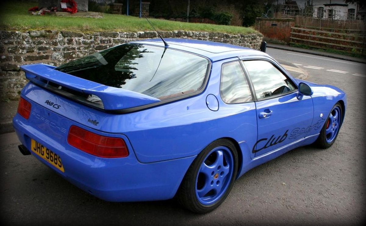 maritime blue porsche 968 club sport is a performance bargain heading to auction carscoops. Black Bedroom Furniture Sets. Home Design Ideas