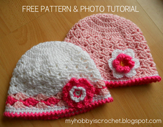 Spring lacy hat for baby girls - Free Pattern& Photo Tutorial
