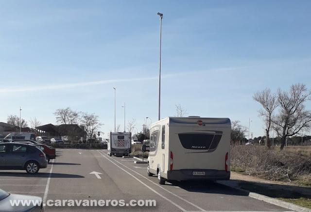 Área de autocaravanas de Aranda de Duero | caravaneros.com