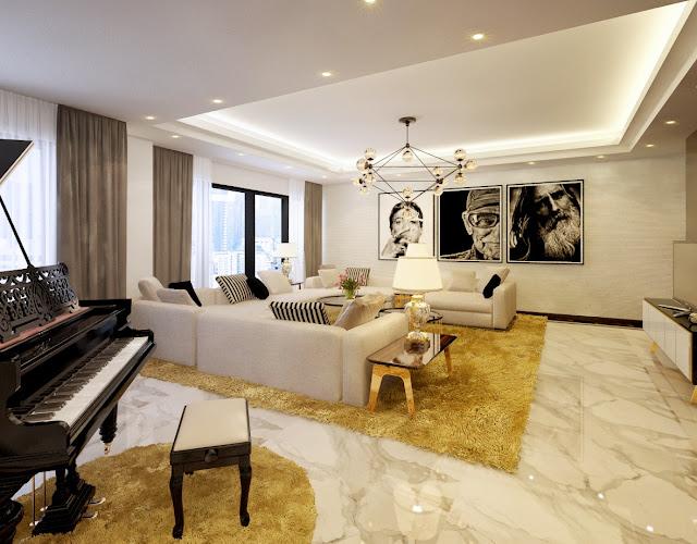 Phòng khách chung cư Hong Kong