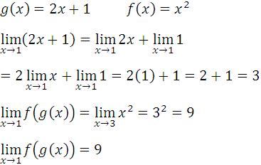Limite de una funcion compuesta