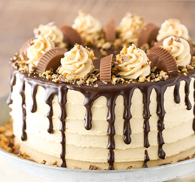 PEANUT BUTTER CHOCOLATE LAYER CAKE #cake