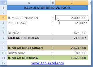 adh-excel.com kalkulator kredivo excel