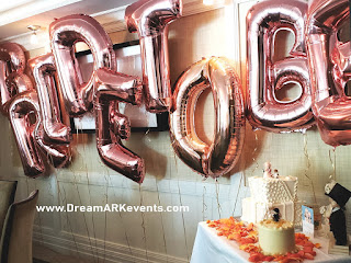 Bride To Be rose-gold balloon letters