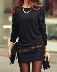 vestido pegado de color negro