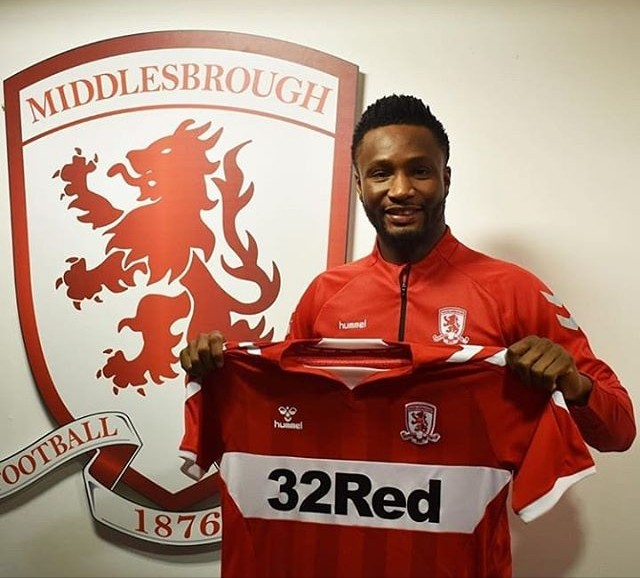 Mikel Obi Joins English-Side Middlesbrough on Short Term Deal .