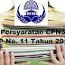 Penting!!! Persyaratan Pendfataran CPNS Berdasarkan PP No. 11 Tahun 2017