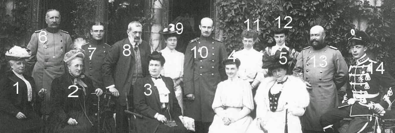Wladimir Alexandrovitch et Maria Pavlovna de Russie chez les Mecklembourg