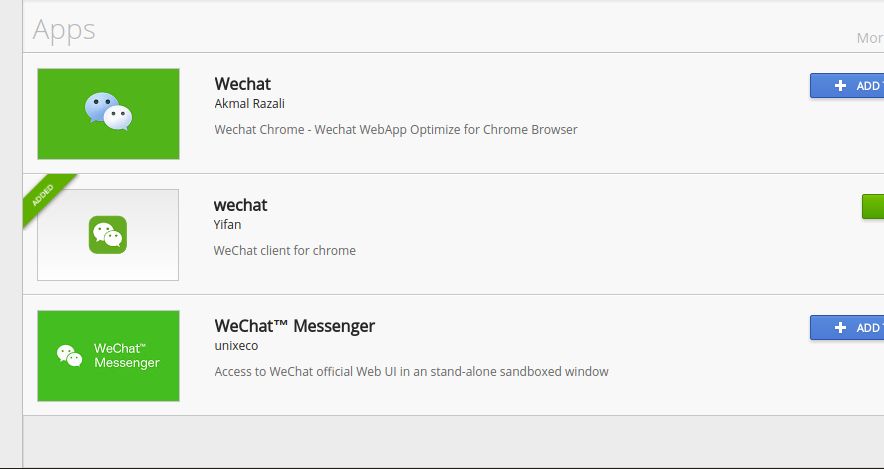 WeChat Desktop Apps and Chrome Extensions