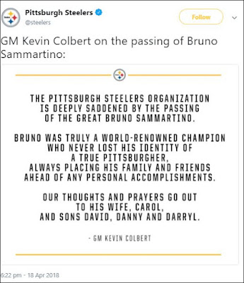 Pittsburgh Steelers Tweets About Bruno Sammartino