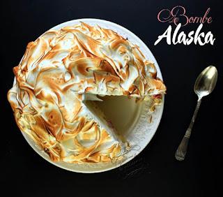 Bombe Alaska framboise pistache