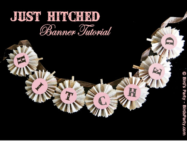 How to Make a DIY Just Married Paper Banner - BirdsParty.com