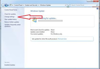 Langkah kedua menonaktifkan automatic windows update