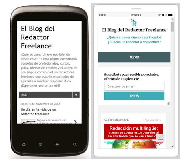 Nuevo diseño movil El Blog del Redactor Freelance