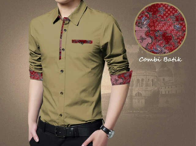 Setelan Batik Modern, Combi Simple Bj0029 Warna Coklat www.bajumurahgrosiran.com