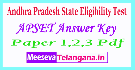 APSET Answer Key 2018 Download