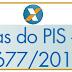 Cotas do PIS, saldo da conta individual de participação, de acordo com a Lei 13.677/2018
