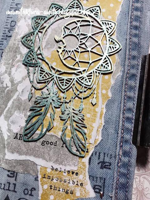 art journal - jeansowa okładka