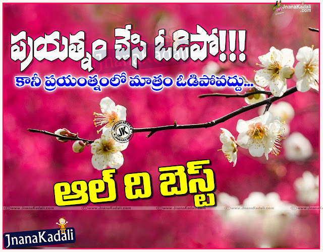 Here is a Beautiful Telugu language All the best,Best off luck messages and Wallpapers, Top Famous Telugu Quotesadda All the best,Best off luck messages and Quotations, Happy All the best,Best off luck Quotes in Telugu Language, Good Morning Sentence,All the best,Best off luck Telugu Wallpapers, Telugu Popular Good Morning,All the best,Best off luck Sayings and Quotes Free.Telugu Quotes about Life.