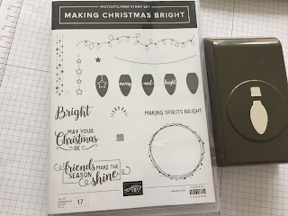 Making Christmas Bright stamp set and Build a bulb bundle