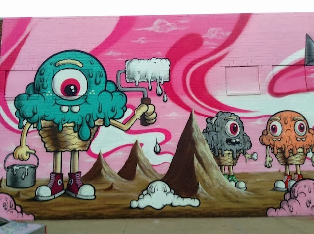 Street Art By American artist Buff Monster In Williamsburg, Brooklyn. 2