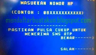Cara Daftar SMS Banking Mandiri Lewat ATM