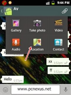 send location in whatsapp