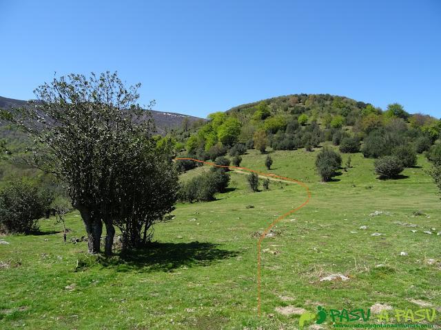 Camino de la Collá Tromeu al Puerto San Lorenzo