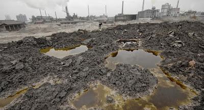 suelo contaminado  por las fosas septicas