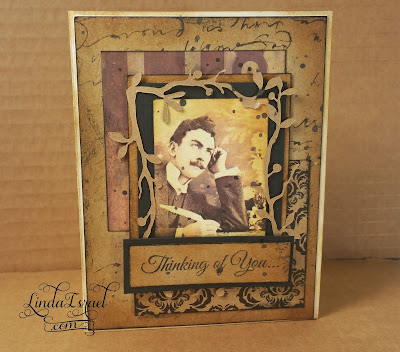 Stamping, Digital Ephemera and Cricut Greeting Card