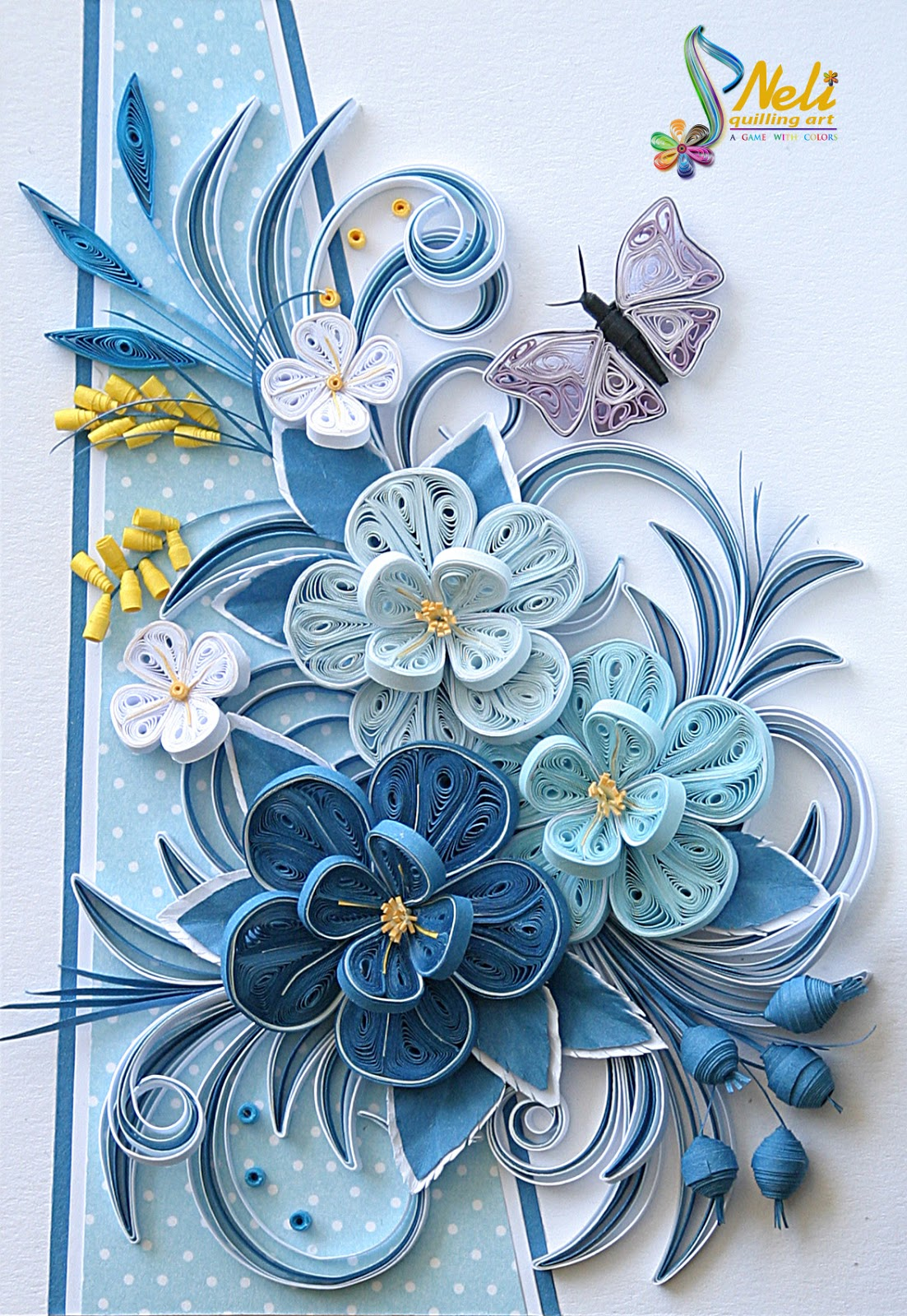 Neli quilling art quilling cards for Art and craft drawing and painting