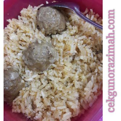 resepi nasi goreng noxxa, nasi goreng meatball