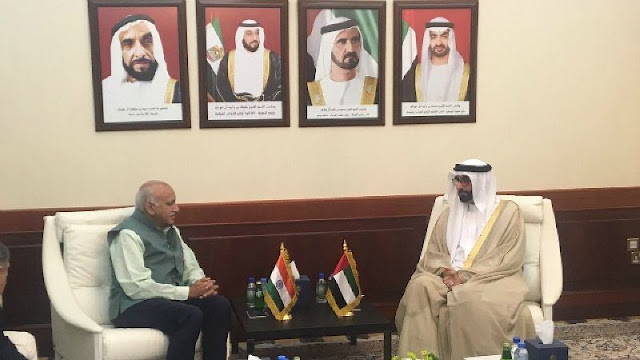 MJ Akbar with senior UAE minister